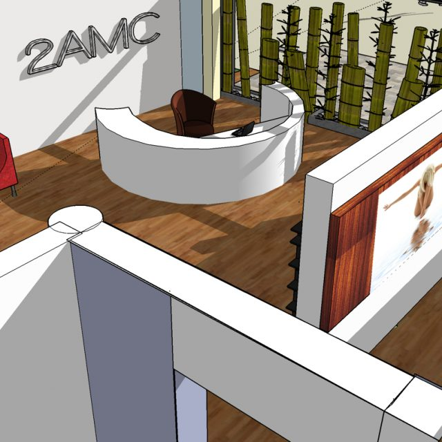 3D Architercture Medical aseptic, healthcare group, the front desk